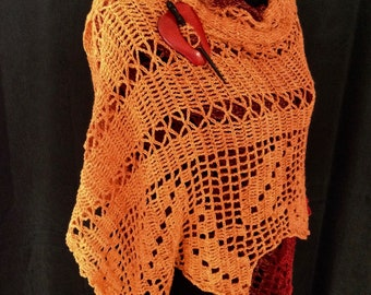 Shawl Wrap - Autumn Leaves