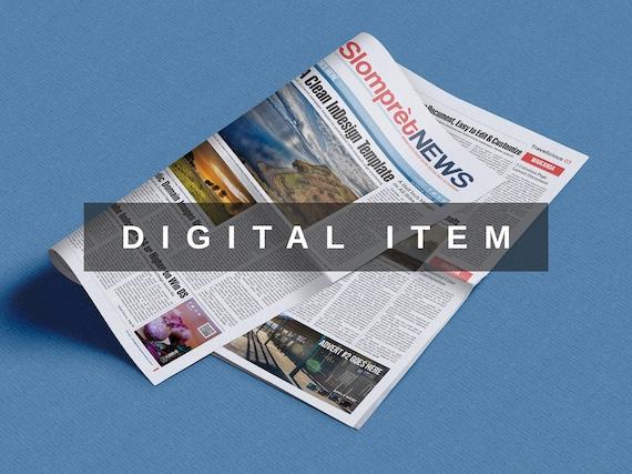 Slompret Newspaper Indesign Template Newspaper Template