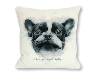 I love my French Bulldog DIY Pillow Design. Instant Download. This is artwork usable for your own project. Pillow not included.