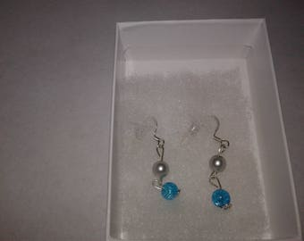 Handmade glass bead Earings