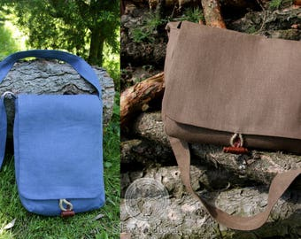 SALE ! Viking Shoulder bag for reenactors, historical bag made of linen. Many colors!