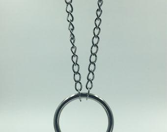 O Ring curb chain choker