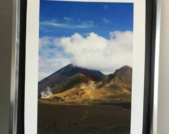 Ngauruhoe: a4 giclee art print. Limted edition, photography. New Zealand. Doom mountain.