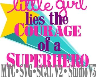 SVG Cut File Super Hero Girl Saying Quote Design 02 MTC SCAL Silhouette Cricut Cutting Files