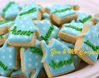 Home Sweet Home Mini Hand Decorated Sugar Cookie - 3 dozen
