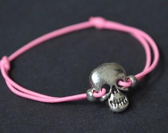 Bracelet pink skull
