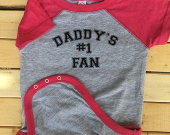 Number One Fan, Bodysuit, Baby One-piece, Baby Girl Clothes, Baby Clothes, Newborn Baby Clothes, Cute Baby Snapsuit