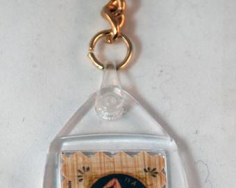 "Traditional Sicilian Papyrus Keychain ""Trinacria"""