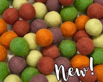 Collection - 60PC Piece VEGGIE GARDEN Felt Balls