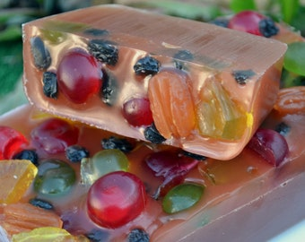 Holiday Fruitcake Soap - AN AJSWEETSOAP EXCLUSIVE - Food Soap - Christmas Soap - Fruitcake -Dessert - Bakery - Fake Food - Vegan - Gift