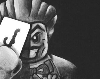 A4 Lego Joker Giclee print