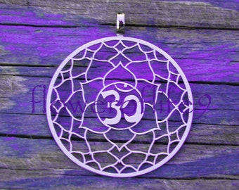 7th Chakra pendant (1 3/8 inch) - Stainless Steel