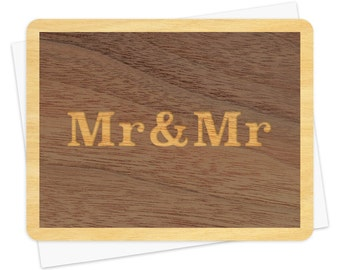 Mr & Mr Wood Wedding Congratulations Card • WC1364
