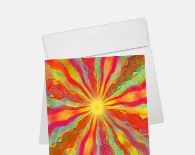 August Sun Printed Greeting Card