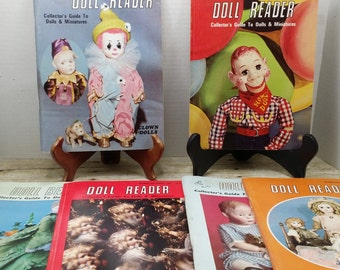 Set of 6 Doll Reader Magazines from 1981, Vintage doll, vintage magazines, doll collector