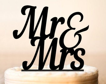 Mr and Mrs Cake Topper, Mr & Mrs Cake Topper, Mr and Mrs wedding Cake Topper, wedding cake toppers, Cake Topper for Wedding (0021)