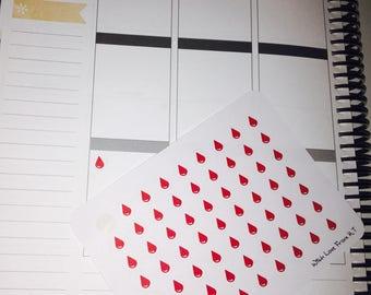 Shark Week Droplet Stickers