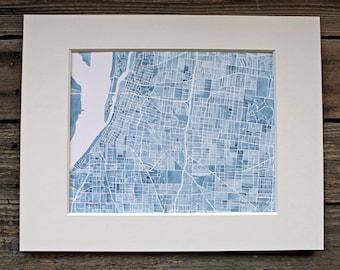 Memphis watercolor painting city map memphis tennessee indigo memphis 8x10 print memphis watercolor city map tennessee indigo blueprint malvernweather Images