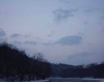 Frozen River and Super Moon