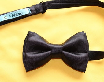 bow tie, bow tie, black satin tie, men accessories