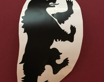 Mormont, House Mormont, Mormont Decal, Mormont Iron On, Game of Thrones, Game of Thrones Decal, GoT Decal, GoT