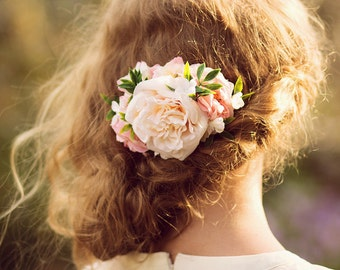 Wedding Hair Accessory with Roses