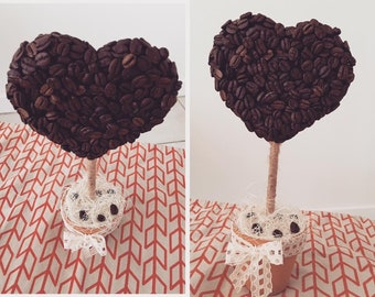 Topiary Tree with coffee beans