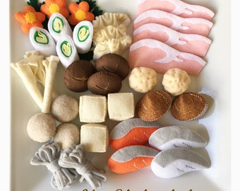 Felt food  Mix Shabu shabu set