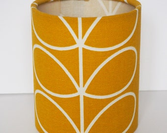 "Modern ""Orla Kiely"" stem mustard yellow lantern nightlight"