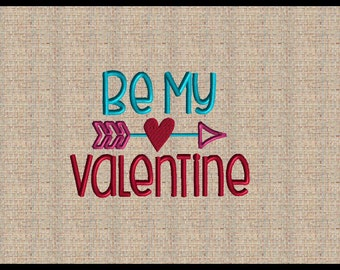 Be My Valentine Embroidery Design Valentines Embroidery Design Heart Arrow Embroidery Design Machine Embroidery Design