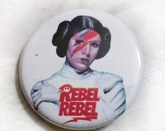 Rebel Rebel Princess Leia 1.25 inch Button