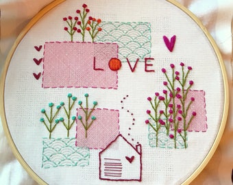"Embroidery stitch kit ""Love"""