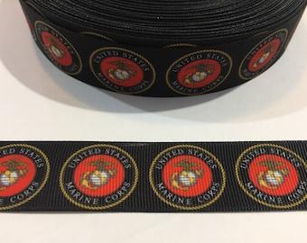 "3 Yards of 1"" Ribbon - US Marine Corp"