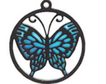 Miniature Dollhouse Blue Butterfly Suncatcher 1:12 Scale