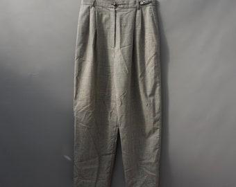 vintage check peg  trousers