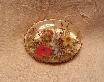 Victorian Garden Silicone brooch.
