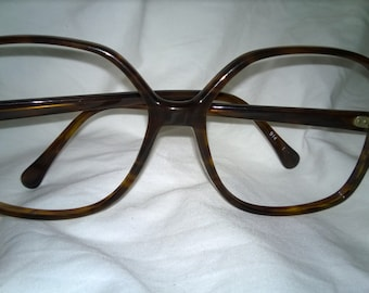 Vintage 1980s Exagerated Tortoise Shell Eyeglass Frames