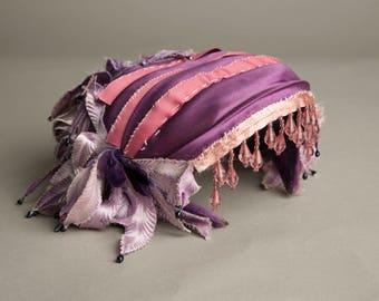 Blazsak Vintage Toque Hat Handmade Crystals Beaded Fascinator Millinery artedellamoda