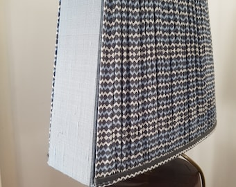 Blue ruched Lampshade
