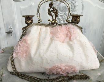 Bag handbag, shoulder bag, Dirndl, shabby, vintage, romance, wedding