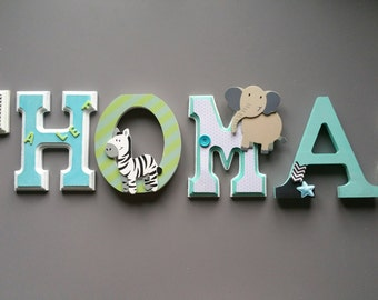 wooden letters personalized for kids and baby room