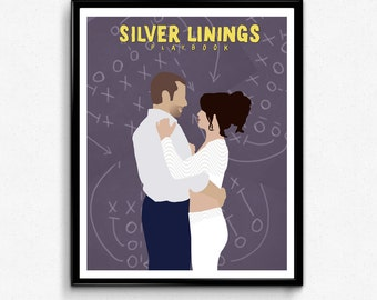 Silver Linings Playbook Movie Poster, Minimalist Print