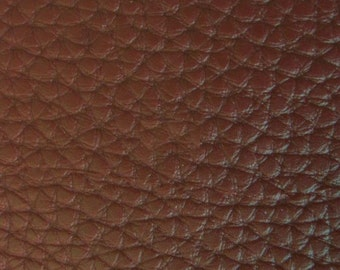 "Brown Textured PVC Leather 55"" (Sold By The Yard)"