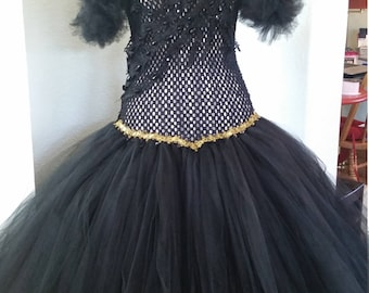 Gothic wedding gown, prom, party, tutu, dress