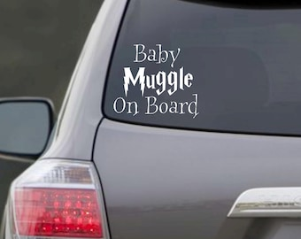 Baby Muggle(s) On Board {Harry Potter Inspired} Decal