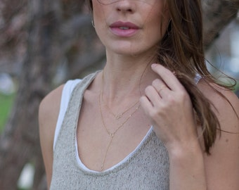 """14 kt gold """"Alli"""" necklace"""