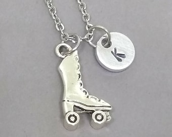 Roller Skate Necklace, Roller Skate Charm Necklace, Roller Derby Necklace, Gift for Roller Skater, Girls Gift, Personalized Necklace