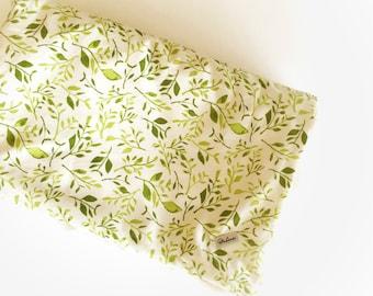 Boho Baby Blanket - Floral Minky Blanket / Greenery Blanket / Baby Stroller Blanket / Baby Shower Gifts /Bohemian Nursery Bedding