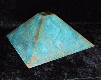 Copper shade Green patina 16""