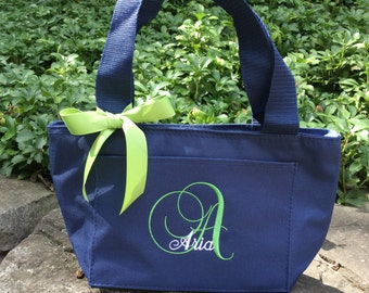Monogrammed insulated Lunch Tote / Cooler / Embroidered and Personalized-- You design it, we create it! Perfect for shcool or work